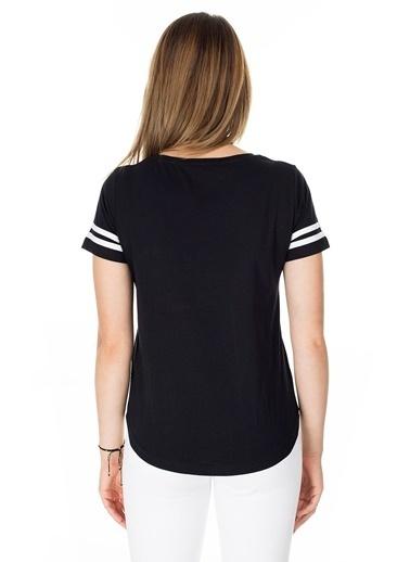 Lela Lela Bisiklet Yaka Kadın T Shirt 5411037 Siyah